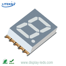 0,39 Zoll einstelliges 7-Segment 3,1 mm ultradünnes SMD-Display
