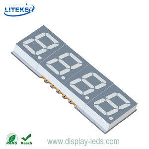0,39 Zoll vierstelliges 7-Segment-SMD-Display