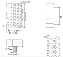 4,6-Zoll-5x8-LED-Dot-Matrix-Display