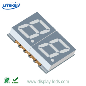 0,39 Zoll zweistelliges 7-Segment-SMD-Display